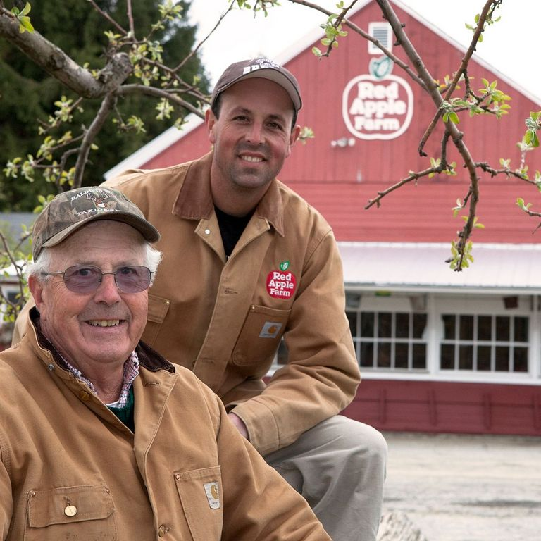 Red Apple Farm owner Al Rose and his father Bill in Phillipston