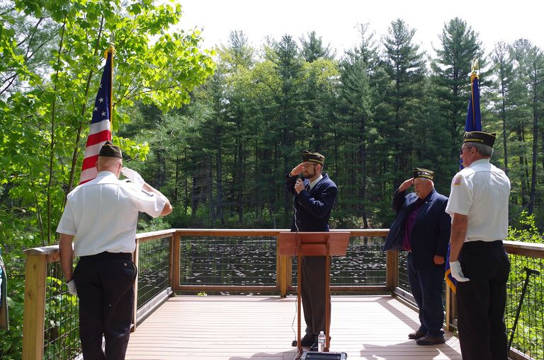Memorial Day Ceremony at Alderbrook Meadows Wildlife Sanctuary in Northfield